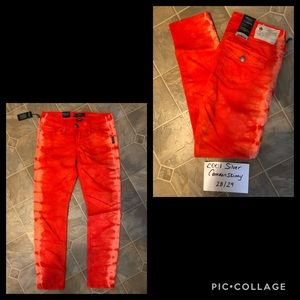 Silver Camden Skinny Jeans Red